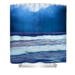 Water At The Shore Shower Curtain