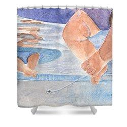 Water Babies Shower Curtain by Sheryl Heatherly Hawkins