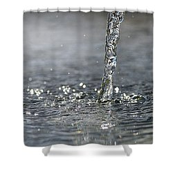 Water Beam Splashing Shower Curtain