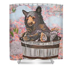 Shower Curtain featuring the painting Water Bear by Phyllis Kaltenbach
