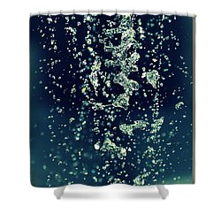 Shower Curtain featuring the photograph Water Blues by Marija Djedovic