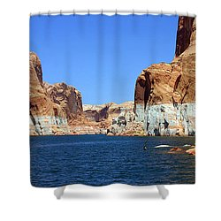 Water Canyons Shower Curtain by Bob Hislop