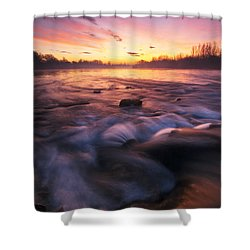Water Claw Shower Curtain by Davorin Mance