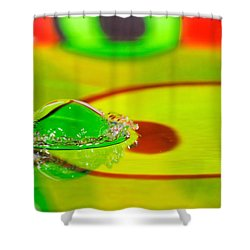 Shower Curtain featuring the photograph Water Crown by Peter Lakomy