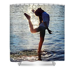 Water Dancer Shower Curtain by Laura Fasulo