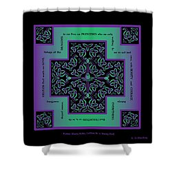 Water Dragon Celtic Cross Shower Curtain