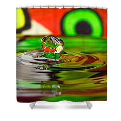 Shower Curtain featuring the photograph Water Drop by Peter Lakomy