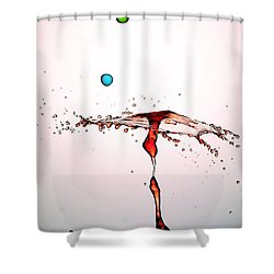 Water Droplets Collision Liquid Art 11 Shower Curtain