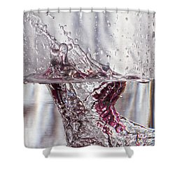 Water Drops Abstract  Shower Curtain by Stelios Kleanthous