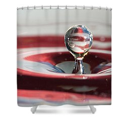 Shower Curtain featuring the photograph Water Drops Jumping by Jeff Folger