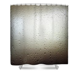 Water Drops Shower Curtain by Les Cunliffe