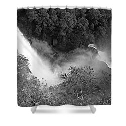 Water Fall And Bushland Shower Curtain by Cheryl Miller