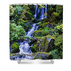 Water Fall Shower Curtain by Dennis Reagan