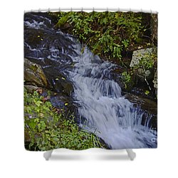 Water Falling Shower Curtain