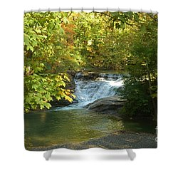 Water Falls Shower Curtain by Kathleen Struckle