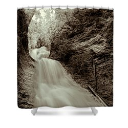Water Falls Shower Curtain by Kathy Bassett