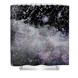 Water Flowing Into Space Shower Curtain