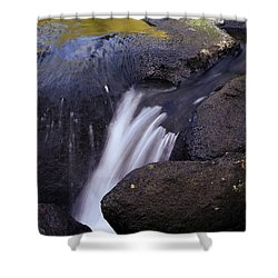 Water Flowing Shower Curtain by Les Cunliffe