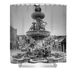 Water Fountain Shower Curtain by Kathleen Struckle