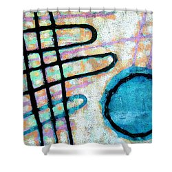 Shower Curtain featuring the painting Water Frequency by Maria Huntley