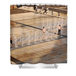 Water Fun Shower Curtain by Mary Carol Story