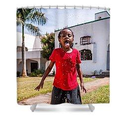Water Fun, Nigeria Shower Curtain