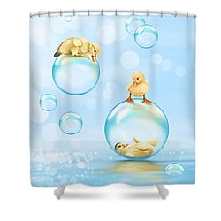 Water Games Shower Curtain by Veronica Minozzi