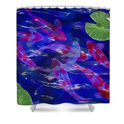 Water Garden Shower Curtain by Jack Zulli