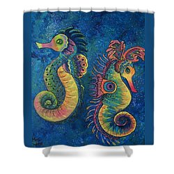 Water Horses Shower Curtain
