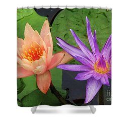 Water Lilies 011 Shower Curtain by Robert ONeil