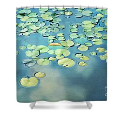 Water Lilies Shower Curtain by Darren Fisher