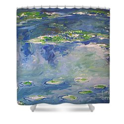 Water Lilies Giverny Shower Curtain by Eric  Schiabor