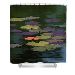 Water Lilies  Nymphaeaceae  On A Pond Shower Curtain
