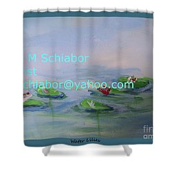 Water Lilies Print Shower Curtain by Eric  Schiabor