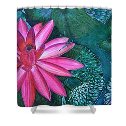 Shower Curtain featuring the painting Water Lilly Garden by Jodi Terracina