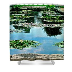 Water Lily Garden Shower Curtain