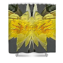 Water Lily Unleashed 4 Shower Curtain by Tim Allen