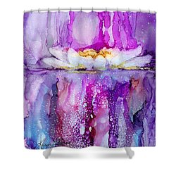Water Lily Wonder Shower Curtain by Karen Mattson