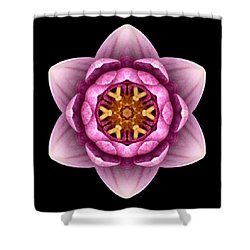 Water Lily X Flower Mandala Shower Curtain by David J Bookbinder