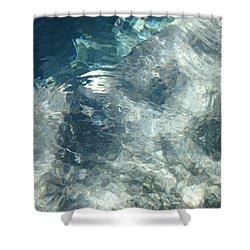 Water Shower Curtain by Marian Palucci-Lonzetta