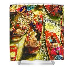 Water Market Shower Curtain