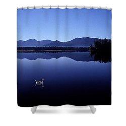 Water Mirror Shower Curtain