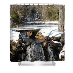 Shower Curtain featuring the photograph Water Over The Dam by Mim White