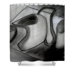 Water Pitcher And Cups Shower Curtain