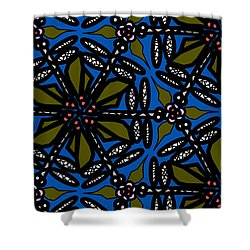 Shower Curtain featuring the digital art Water Plant And Dragonfly by Elizabeth McTaggart