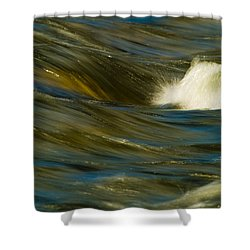 Water Play Shower Curtain by Bill Gallagher