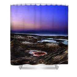 Water Pools In Sink Holes Shower Curtain by Dan Yeger
