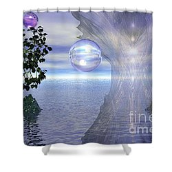 Shower Curtain featuring the digital art Water Protection by Kim Prowse