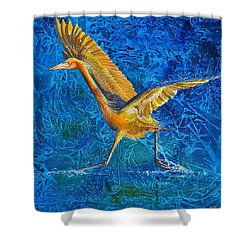 Water Run Shower Curtain by AnnaJo Vahle