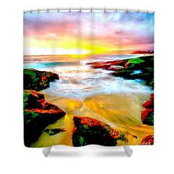 Water Runs To It Shower Curtain by Catherine Lott